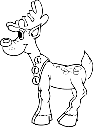 reindeer coloring pages coloring kids