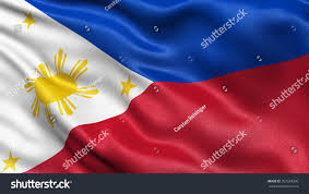 Flag Philippines Picture Highly Detailed Flag Philippines Waving Wind Stock Illustration