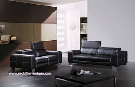 canap cuir haut de gamme ensemble de salon en cuir italien 3 2 2 places virginia