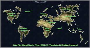 Future Map Of The World by Profantasy Community Forum Future Earth 23rd Century