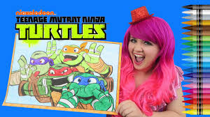 coloring teenage mutant ninja turtles giant coloring page crayons