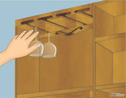 how to make a hanging wine glass rack 14 steps with pictures