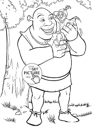shrek coloring pages for kids printable free coloing 4kids com