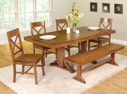 shaker espresso 6 piece dining table set with bench kitchen table oval with bench seating wood folding 4 seats espresso