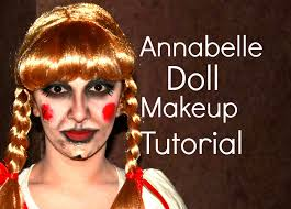 annabelle doll halloween makeup tutorial youtube