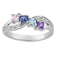 rings for mothers mothers princess cut austrian simulated birthstone and