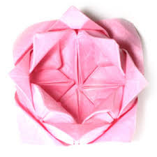 Lotus Blossom Origami - how to make a traditional origami lotus flower page 23