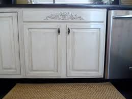 how to distress white cabinets from