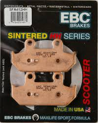 27 78 ebc sfa hh sintered scooter rear brake pads single 980588