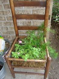 Recycling Ideas For The Garden Recycled Chair Planters Thriftyfun
