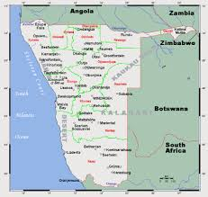 Namibia Map Detailed Map Of Namibia Namibia Detailed Map Vidiani Com Maps