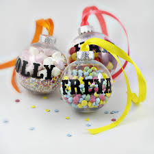 personalised fill me up bauble activities tree