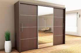 awesome white wooden wardrobe doors mirrored sliding closet doors