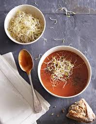 cuisiner tomates velouté acidulé de tomates et graines germées pour 4 personnes