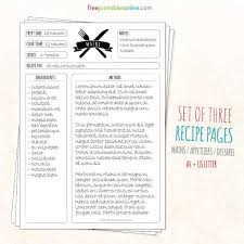 155 best recipe cards u0026 menu planning images on pinterest