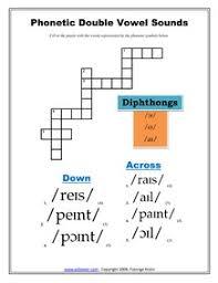 printable phonetics crossword exercises worksheets
