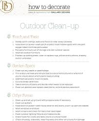outdoor spring cleaning checklist cleaning checklist spring and