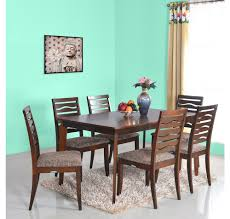 buy nilkamal vanli 1 6 dining set walnut online at home