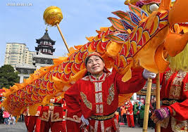 traditional celebrations performed to er yue er in e china