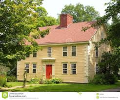 colonial home in village stock photography image 299962