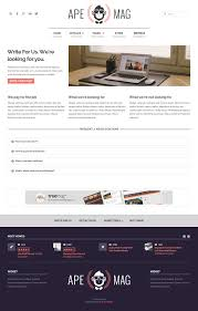 apemag stylish wordpress theme magazine with review system by