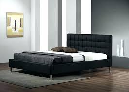 deco chambre lit noir chambre lit noir meubles chambre confortable noir en cuir appui tate