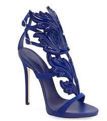 Light Blue High Heels New Light Blue Leather Metallic Wing Leaf Gladiator Women Sandals