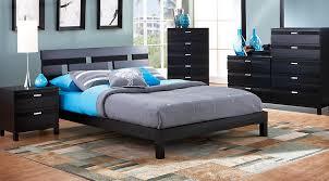 Bedroom Sets In Black | gardenia black 6 pc king platform bedroom king bedroom sets colors