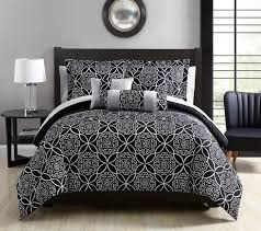Black And White Comforter Full 10 Piece Mindy Black Gray White Comforter Set