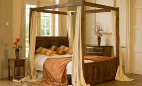 wonderful vintage four poster bed frame for floral curtains four