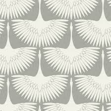 Temporary Wallpaper Tiles by Genevieve Gorder For Tempaper Feather Flock Removable Wallpaper
