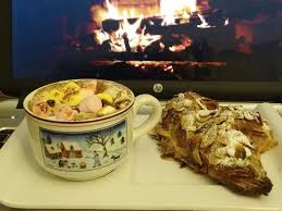 cuisine au coin du feu cuisine en folie croissants aux amandes et chocolat chaud au coin