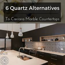 quartz alternatives to carrara marble countertops