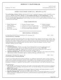 Fast Food Resume Examples by Food Service Manager Resume Sample Free Resume Example And