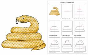 coiled snake art projects for kids