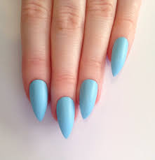 pastel blue stiletto nails nails pinterest blue stiletto