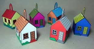 papermau time houses papercraft ornaments by