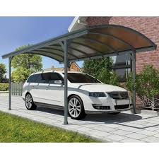 king canopy tan a frame enclosed carport with awning 10 x 20 ft