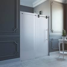 vigo 60 in x 74 in frameless bypass shower door in stainless