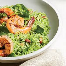 shrimp and pesto rice salad recipe myrecipes
