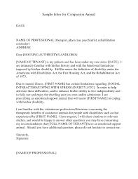 emotional support animal letter how to format a cover letter