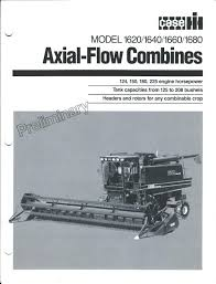 farm combine brochure case ih 1620 et al axial flow 8 items