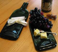 wine bottle plates melted wine bottle transformed into a cheese tray 42