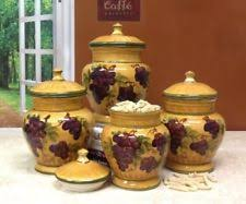 ceramic canisters sets for the kitchen ack ceramic kitchen canister sets ebay