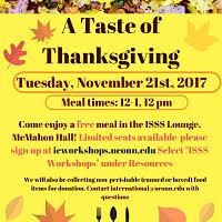 a taste of thanksgiving uconn calendar