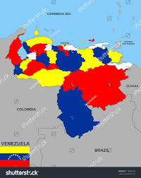 Venezuela Map Very Big Size Venezuela Political Map Stock Illustration 119426158