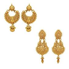 photo of earrings youbella jewellery gold plated jewellery combo of earrings for