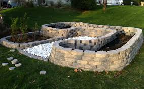 raised bed vegetable garden traditional landscape neat and