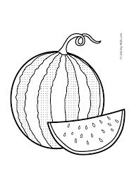 watermelon fruits coloring pages for kids printable free tegn