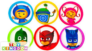 learn colors team umizoomi pj masks play doh eggs nick jr